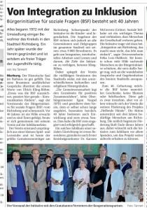 Artikel der Oberhessichen Presse vom 27.06.2013