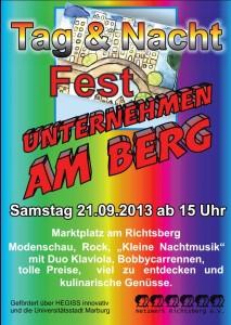 Unternehmen am Berg Fest 21.09.2013
