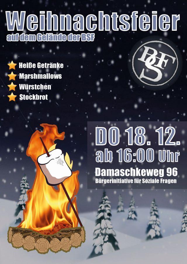 Plakat der Weihnachtsfeiers