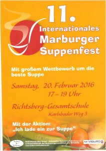Plakat zum Suppenfest