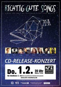 Plakat für das Release-Konzert