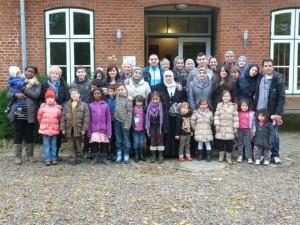 Hier sieht man die Teilnehmer der Familienfreizeit ind Westerhever